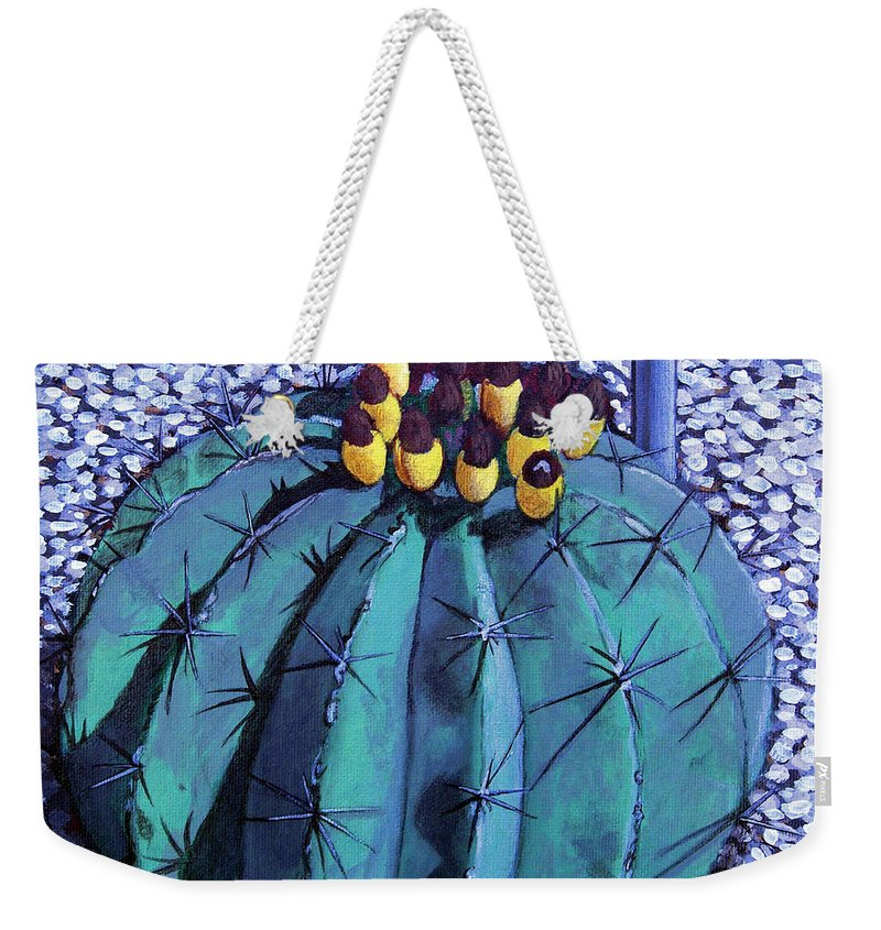Nature Weekender Tote Bag featuring the painting Barrel buds by Snake Jagger