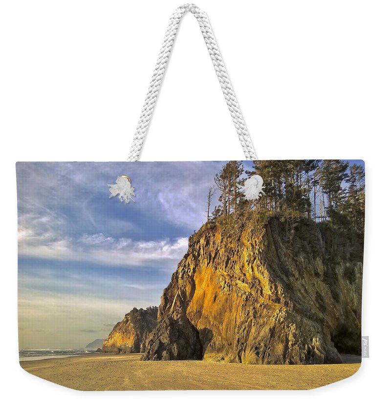 Oregon Weekender Tote Bag featuring the photograph Barren Coastline by Dominic Piperata