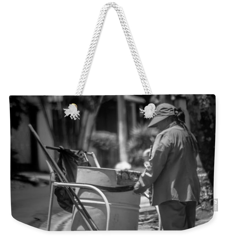 Antiguo Cuscatlan Weekender Tote Bag featuring the photograph Barrendera Antiguo Cuscatlan by Totto Ponce