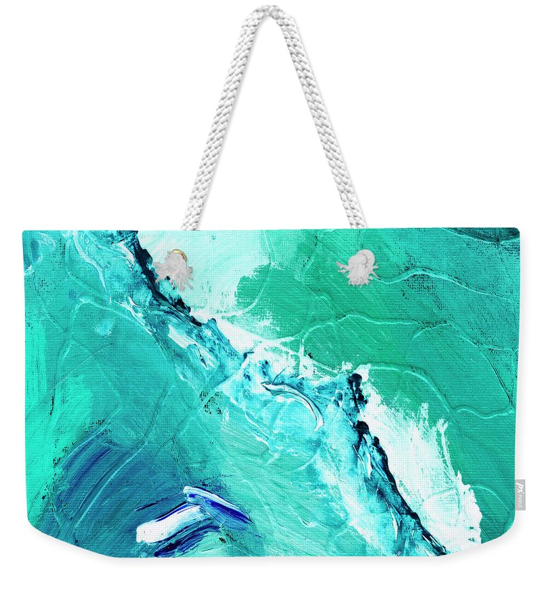 Abstract Weekender Tote Bag featuring the painting Barrier Reef by Dominic Piperata