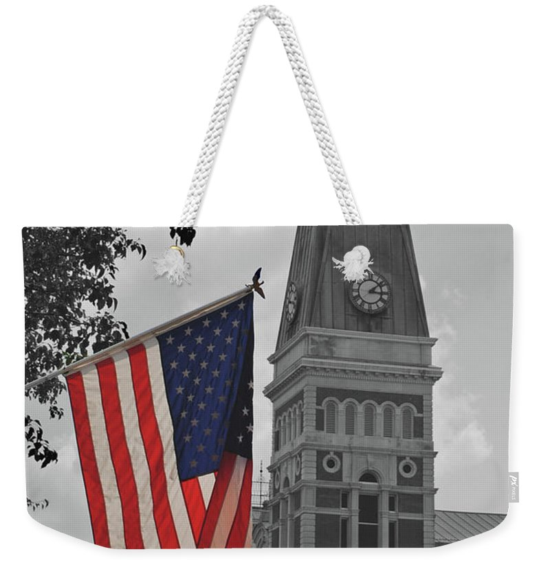 Bartholomew County Weekender Tote Bag featuring the photograph Bartholomew County Court House by Jost Houk