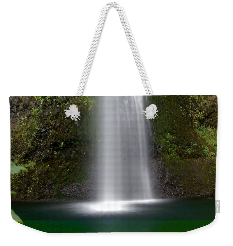 Waterfals Weekender Tote Bag featuring the photograph Base Of The Falls by Marty Koch