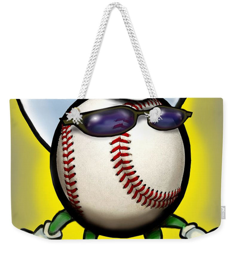 Baseball Weekender Tote Bag featuring the greeting card Baseball Cowboy by Kevin Middleton