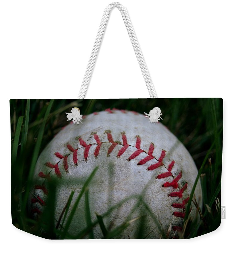 Baseball Weekender Tote Bag featuring the photograph Baseball by Diane Reed