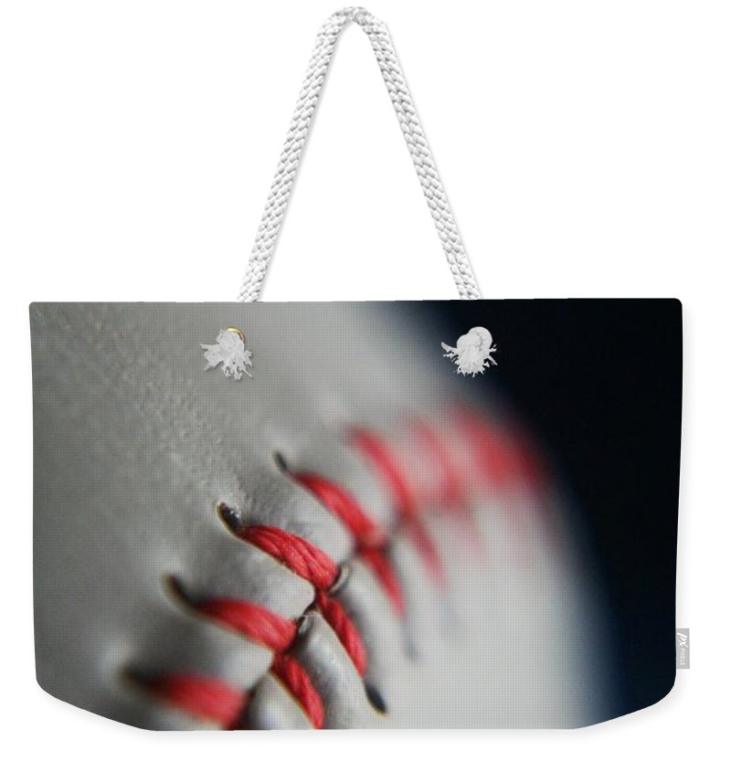 Photograph Weekender Tote Bag featuring the photograph Baseball Fan by Rachelle Johnston