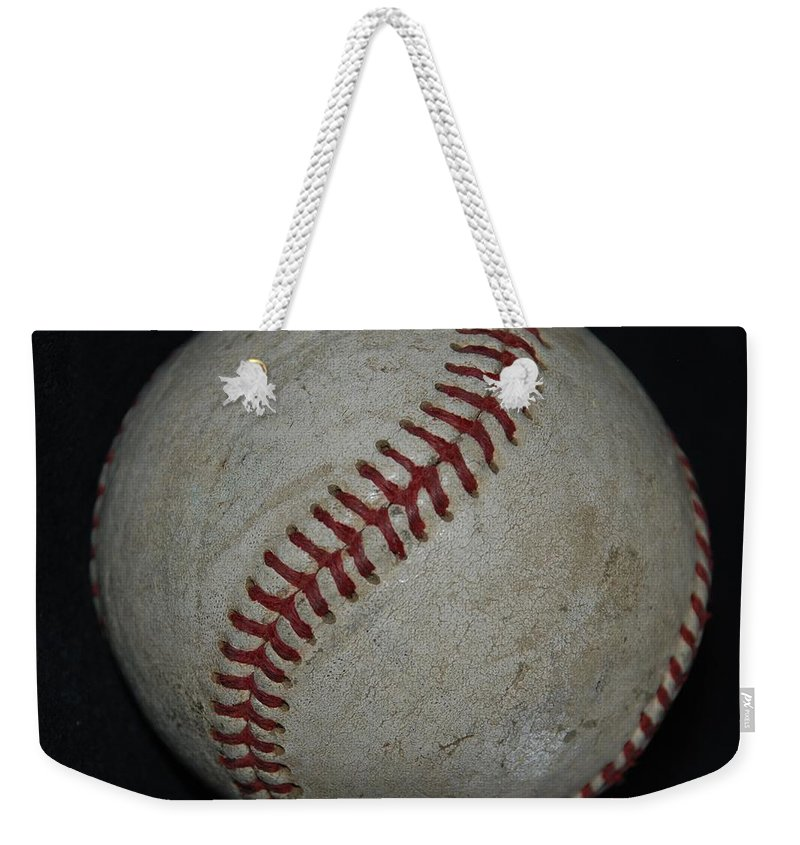 Pop Art Weekender Tote Bag featuring the photograph Baseball by Rob Hans