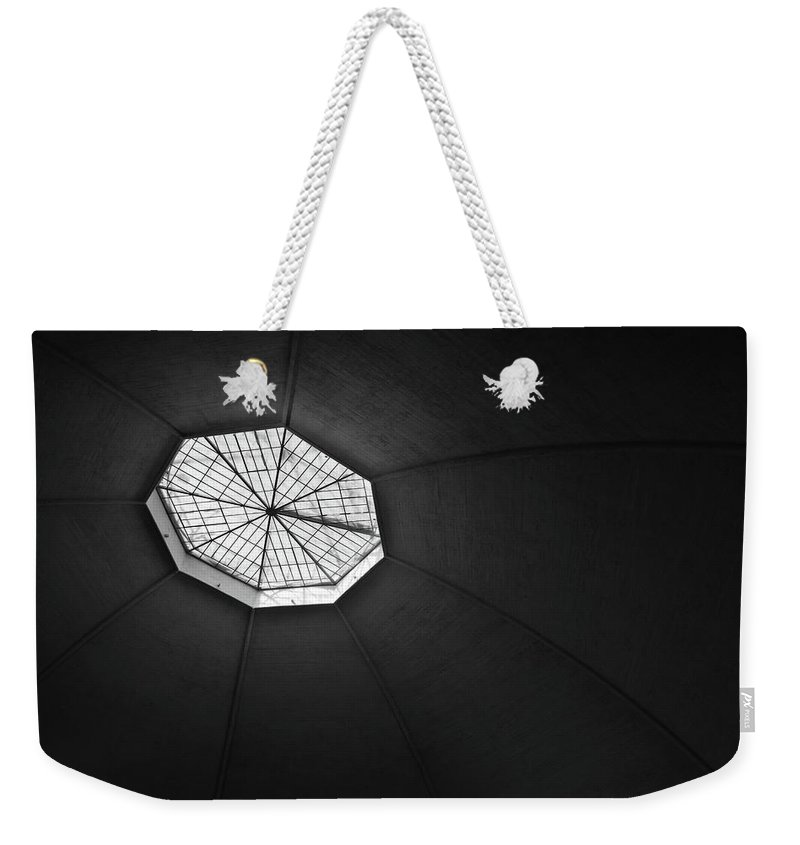 Architecture Weekender Tote Bag featuring the photograph Basel Markthalle by Christian Horisberger