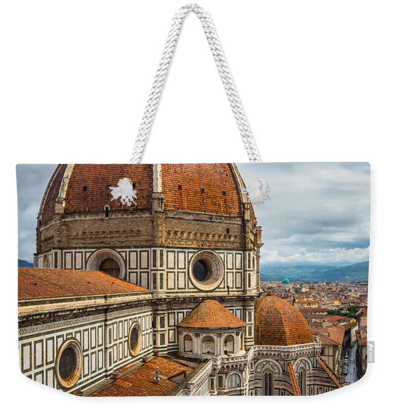 Christian Weekender Tote Bag featuring the photograph Basilica di Santa Maria del Fiore by Inge Johnsson