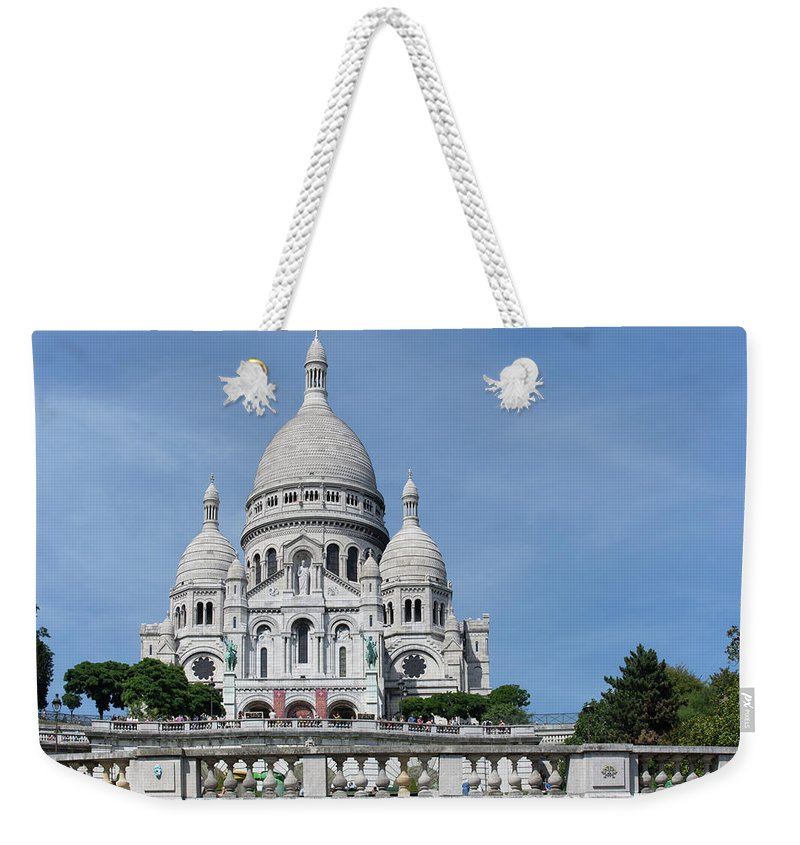 Cathedral Weekender Tote Bag featuring the digital art Basilica Du Sacre-coeur De Montmartre by Carol Ailles
