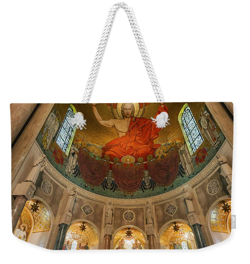 America Weekender Tote Bag featuring the photograph Basilica Of The National Shrine by John Greim