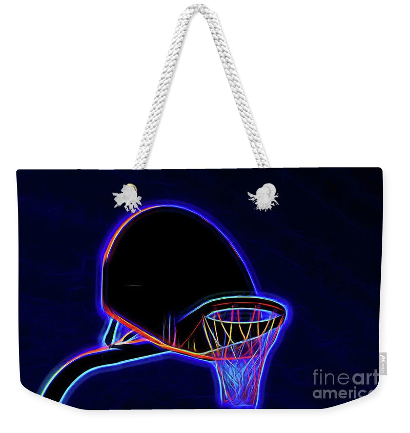 Basketball 121617-1 Weekender Tote Bag featuring the photograph Basketball 121617-1 by Ray Shrewsberry