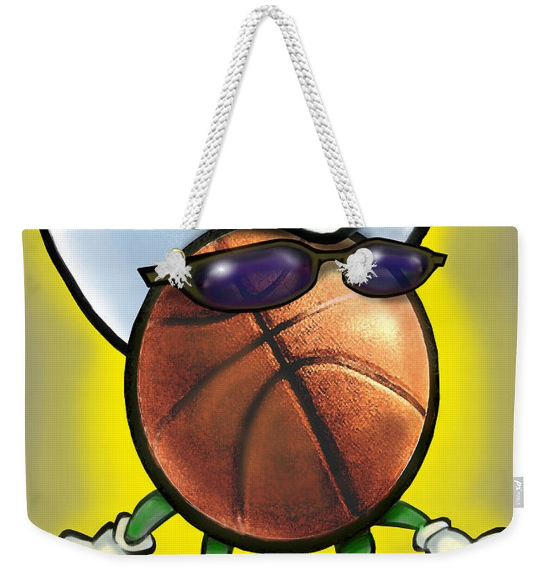 Basketball Weekender Tote Bag featuring the digital art Basketball Cowboy by Kevin Middleton