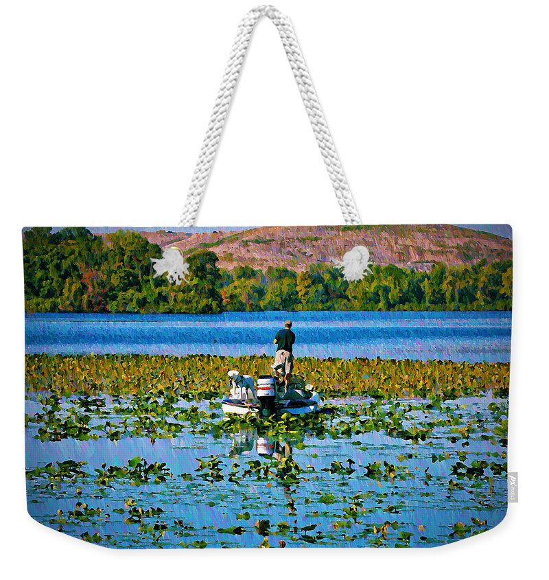 Sport Weekender Tote Bag featuring the photograph Bass Fishing by Bill Cannon