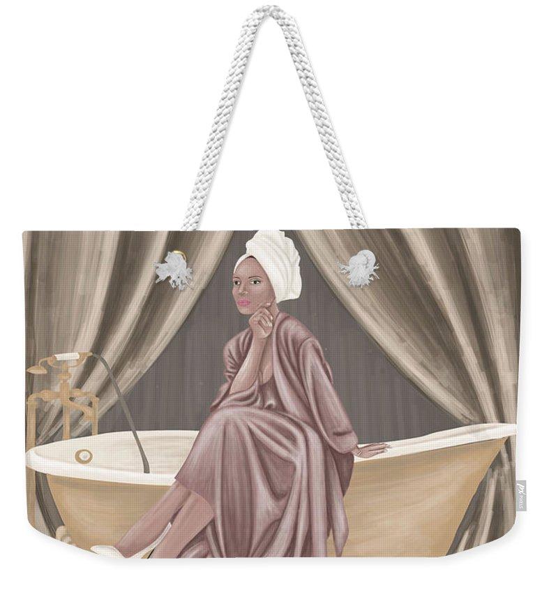 Bathroom Weekender Tote Bag featuring the digital art Bathroom by Viktoryia Ivanova