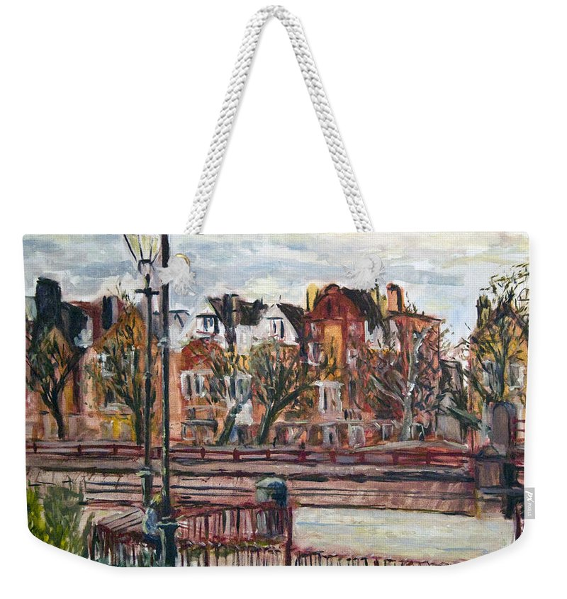 Landscape Weekender Tote Bag featuring the painting Battersea Park by Pablo de Choros