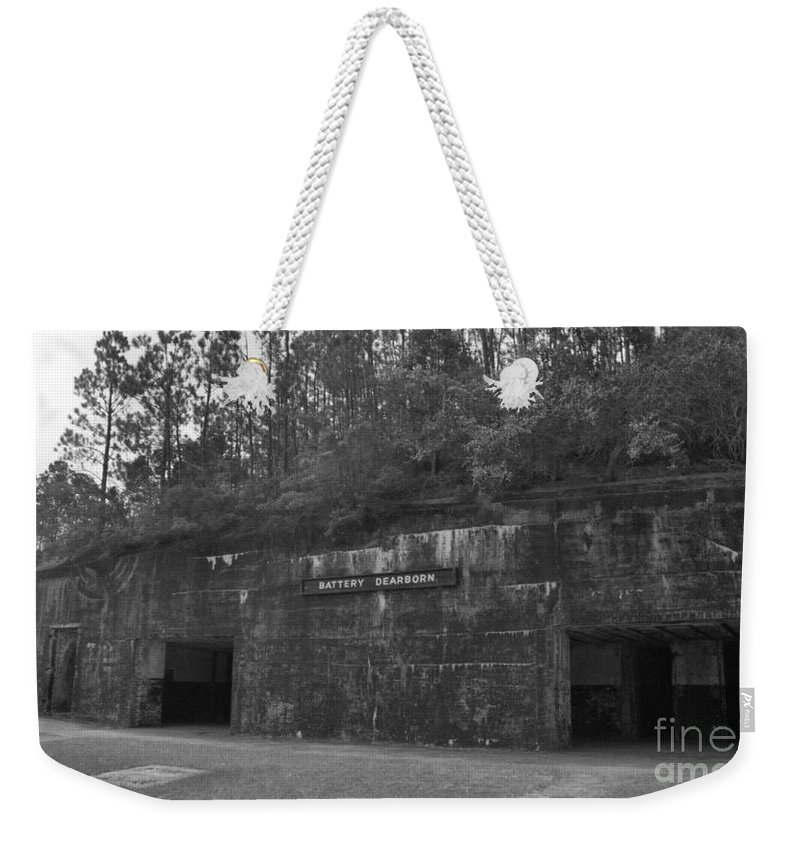 Military Weekender Tote Bag featuring the photograph Battery Dearborn by Richard Rizzo