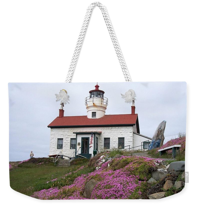 Oregon Weekender Tote Bag featuring the photograph Battery Point Lighthouse by Adrienne Wilson