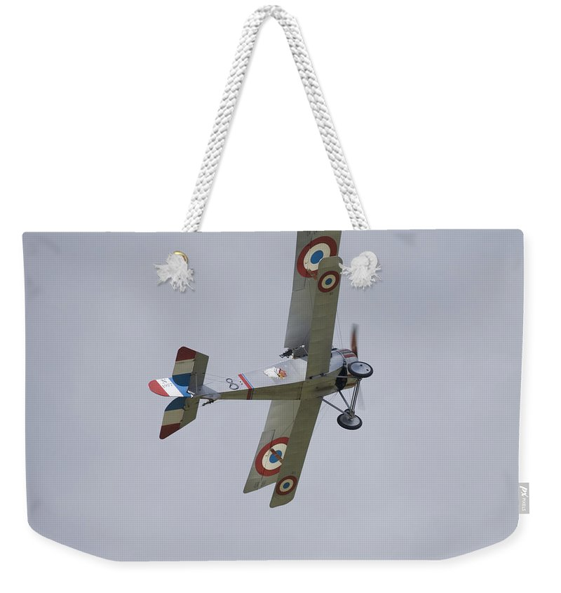 Plane Weekender Tote Bag featuring the photograph Battle Of Britain Memorial Flight by Ian Middleton