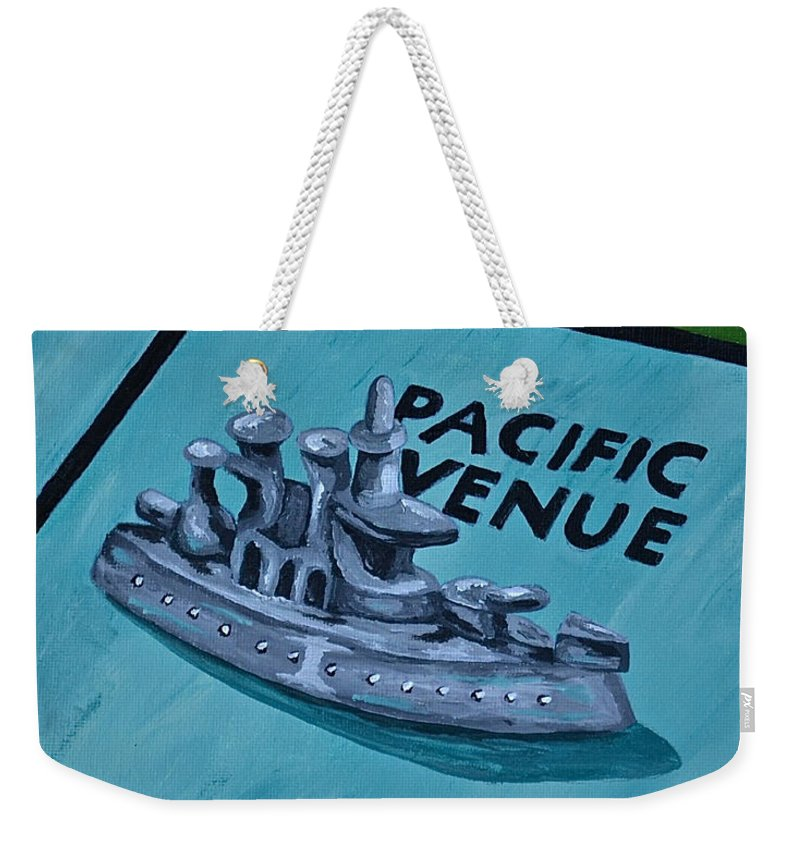 Toys And Games Monopoly Kids Games Weekender Tote Bag featuring the painting Battle Ship by Herschel Fall
