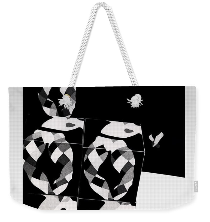 Dance Weekender Tote Bag featuring the photograph Bauhaus Ballet 2 The Cubist Harlequin by Charles Stuart