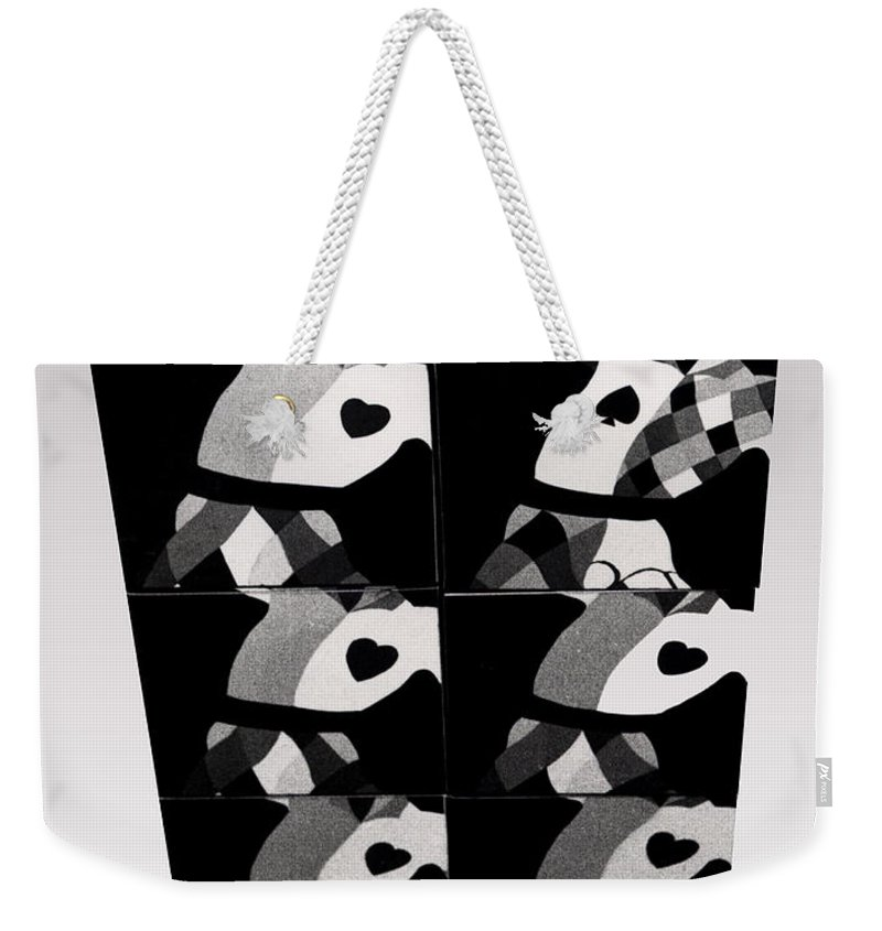 Dance Weekender Tote Bag featuring the photograph Bauhaus Ballet Six by Charles Stuart