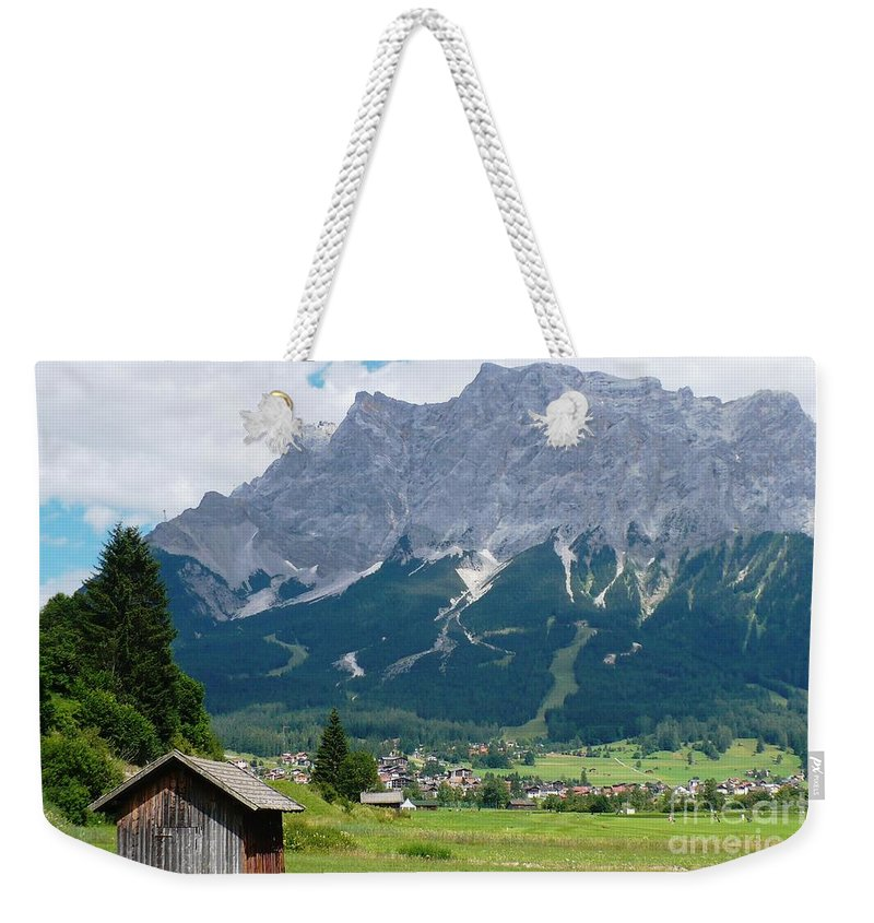 Landscape Weekender Tote Bag featuring the photograph Bavarian Alps Landscape by Carol Groenen