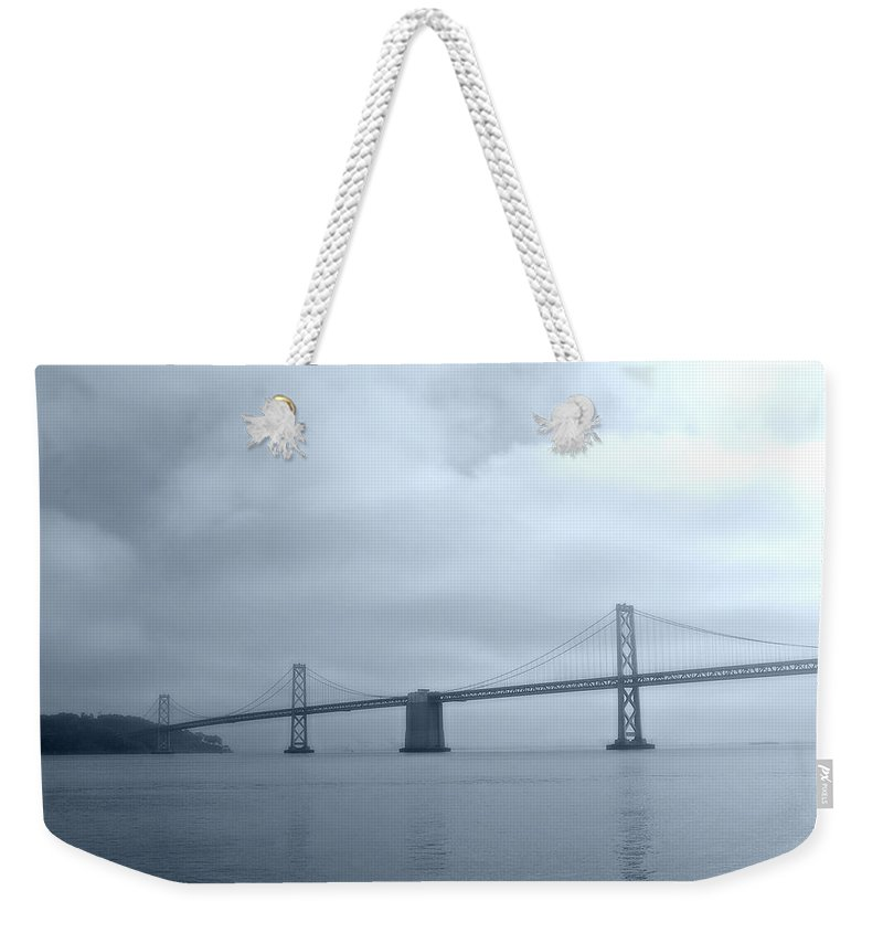 Bay Weekender Tote Bag featuring the photograph Bay Bridge by Tom Reynen