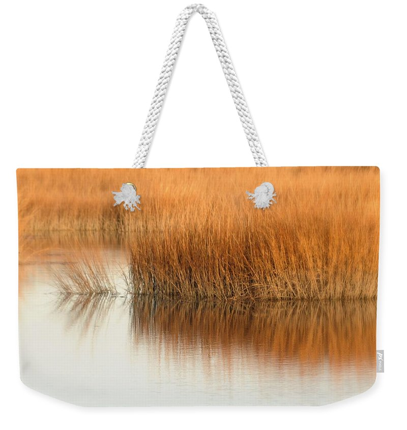 Marsh Weekender Tote Bag featuring the photograph Bay by Diana Angstadt