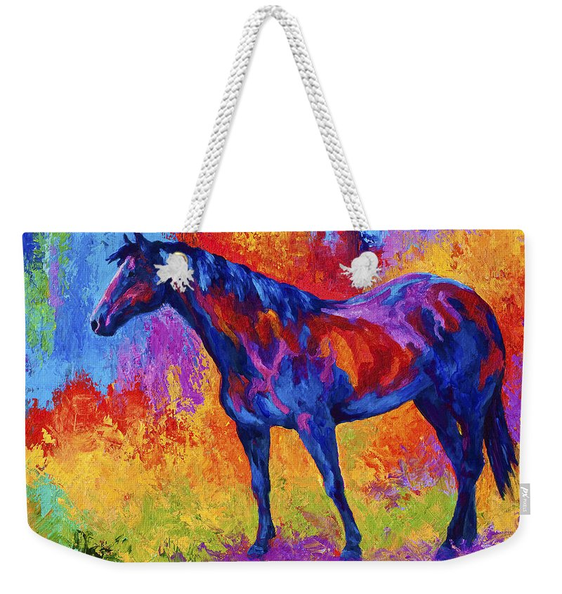 Horses Weekender Tote Bag featuring the painting Bay Mare II by Marion Rose