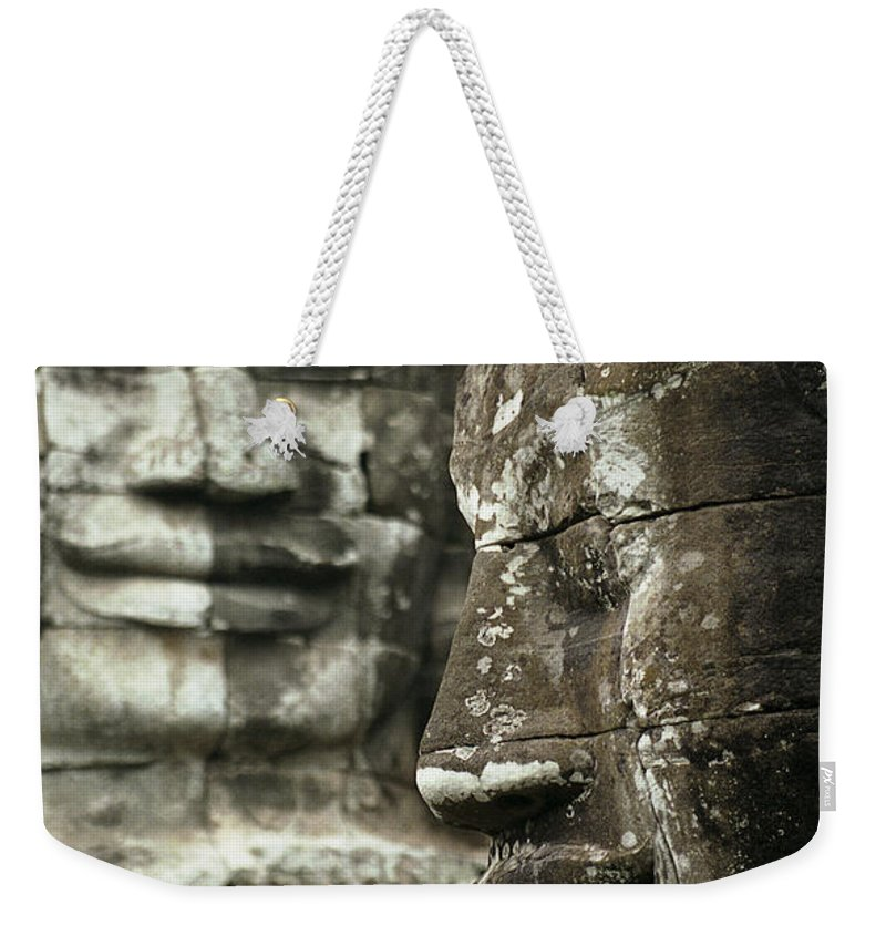 Bayon Weekender Tote Bag featuring the photograph BayonII by Patrick Klauss