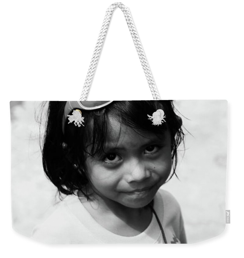 Mati Weekender Tote Bag featuring the photograph Baywalk Gals by Jez C Self