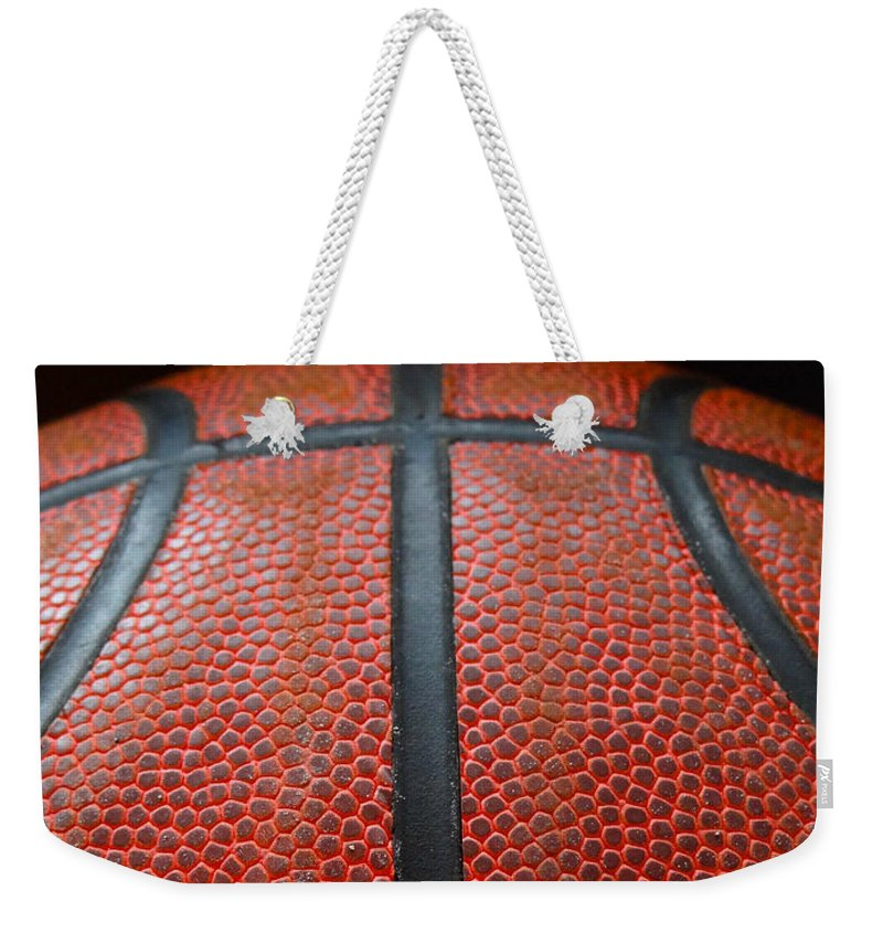 Basketball Weekender Tote Bag featuring the photograph Be Strong by Julia Wilcox