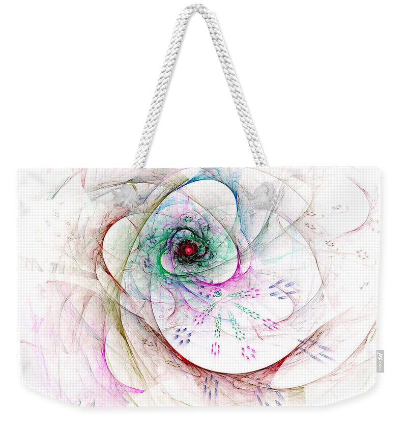 Abstract Weekender Tote Bag featuring the digital art Be Strong Little Flower by Claire Bull