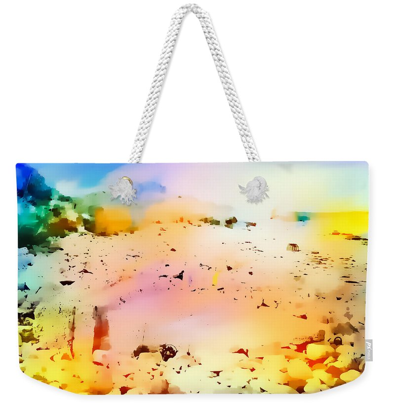 Abstract Weekender Tote Bag featuring the photograph Beach Abstract by Tom Gowanlock