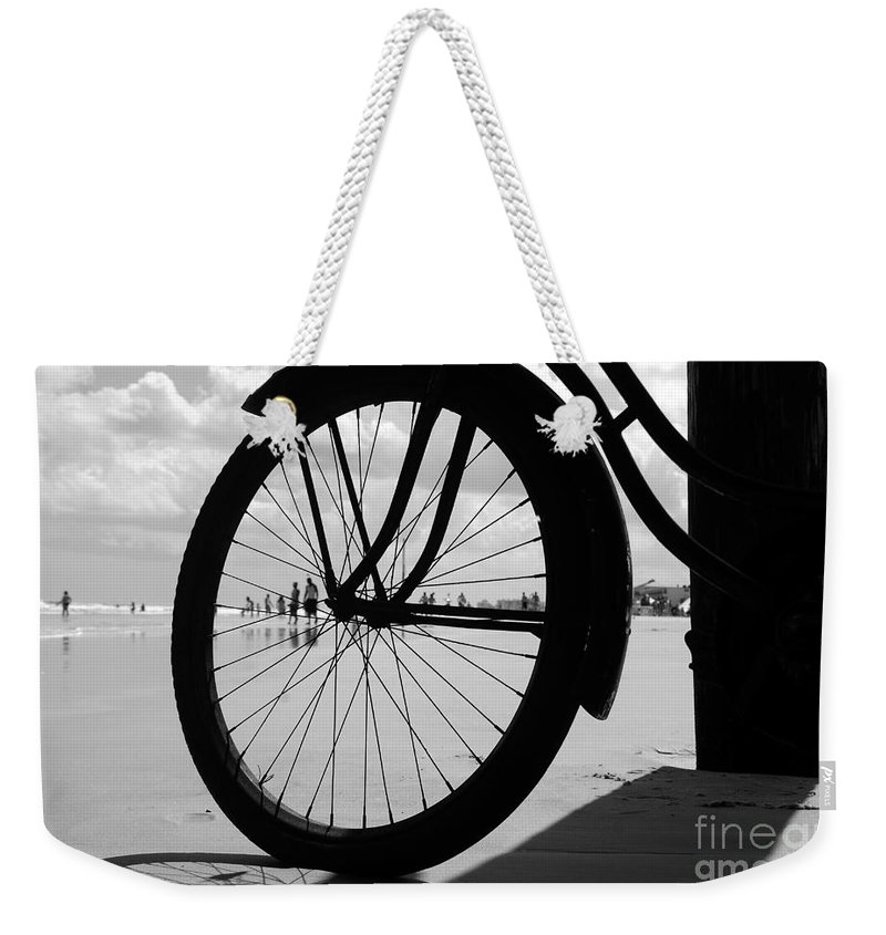 Beach Weekender Tote Bag featuring the photograph Beach Bicycle by David Lee Thompson