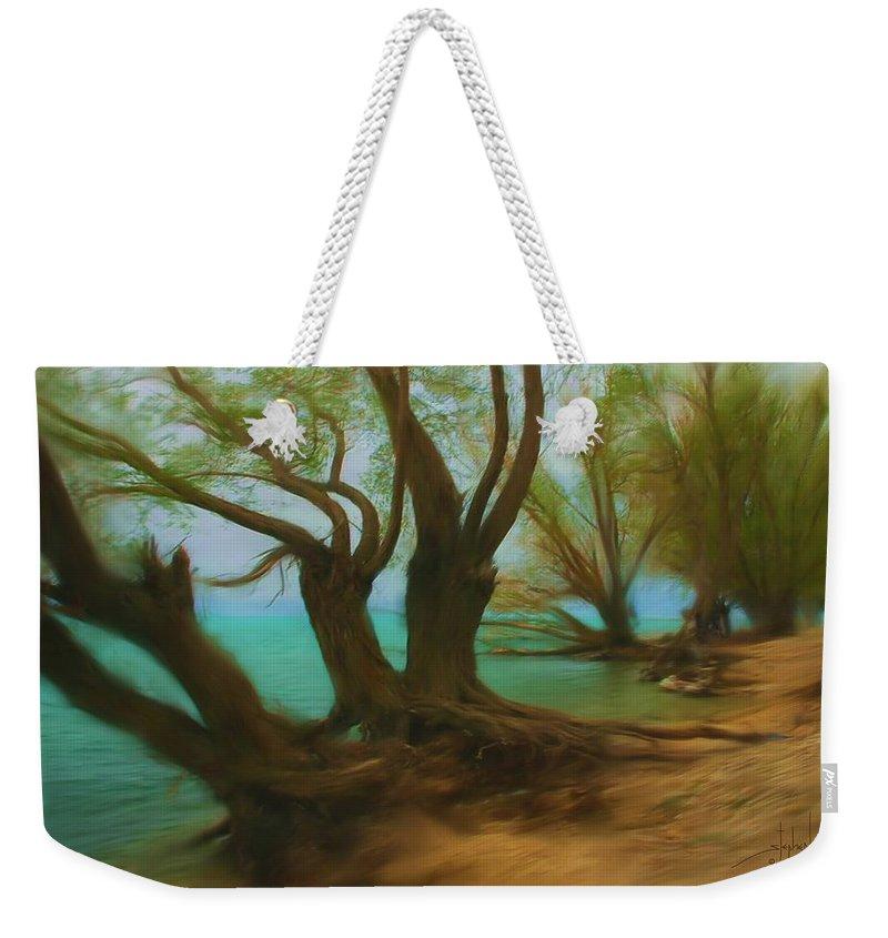 Trees Weekender Tote Bag featuring the digital art Beach Buddies by Stephen Lucas