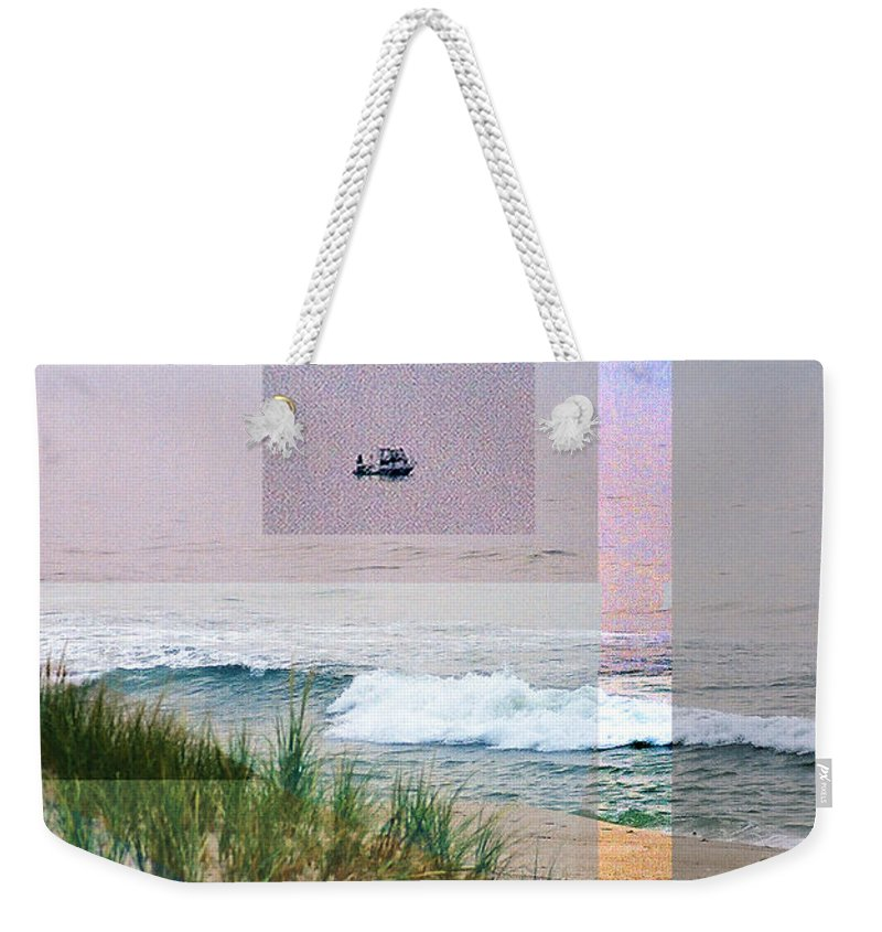 Landscape Weekender Tote Bag featuring the digital art Beach Collage 3 by Steve Karol