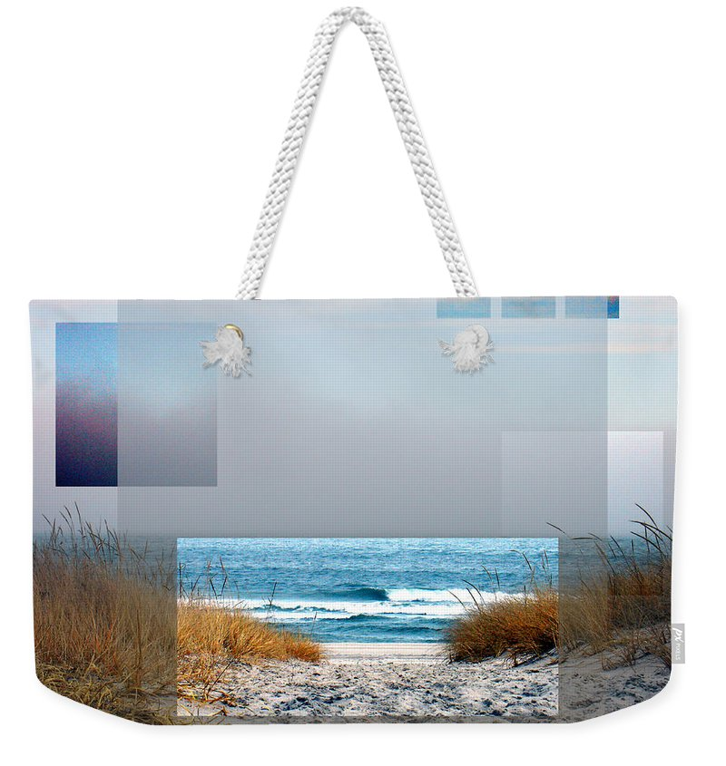 Beach Weekender Tote Bag featuring the photograph Beach Collage by Steve Karol