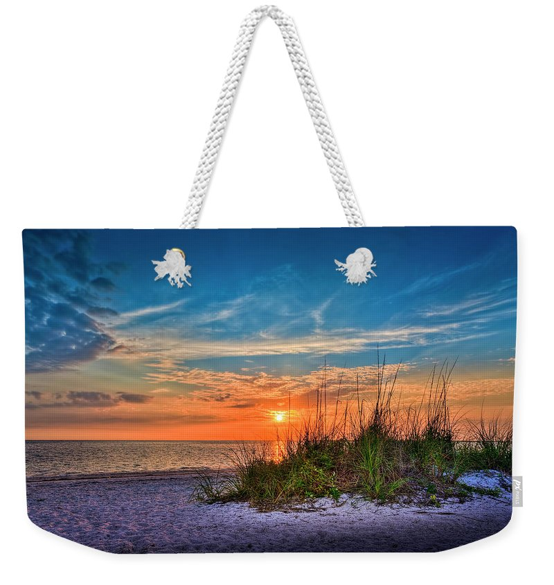 Florida Weekender Tote Bag featuring the photograph Beach Dune by Marvin Spates