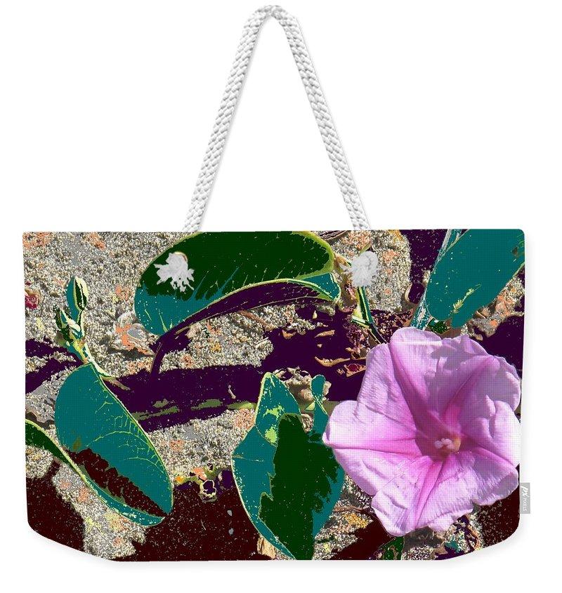 Beach Weekender Tote Bag featuring the photograph Beach Flower by Ian MacDonald