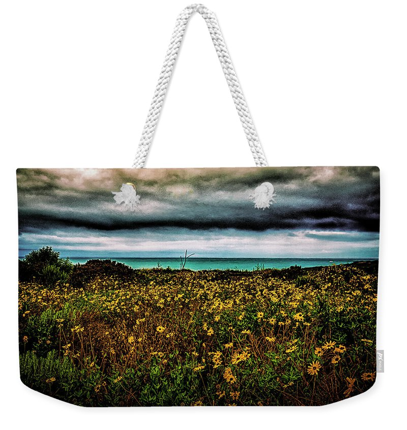 Beach Weekender Tote Bag featuring the photograph Beach Flowers by Joseph Hollingsworth