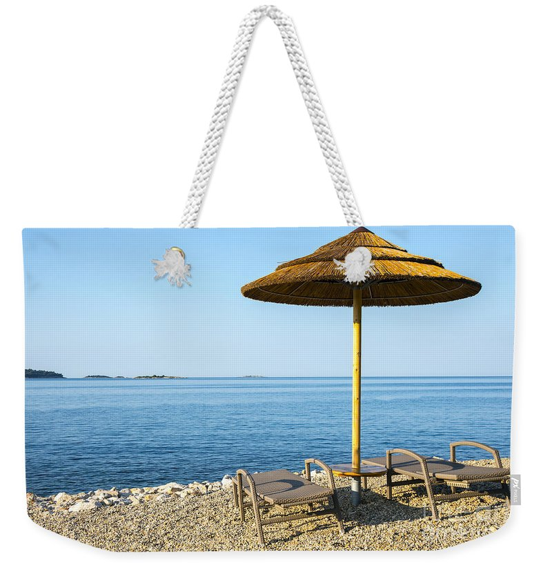Bay Weekender Tote Bag featuring the photograph Beach For Two by Svetlana Sewell