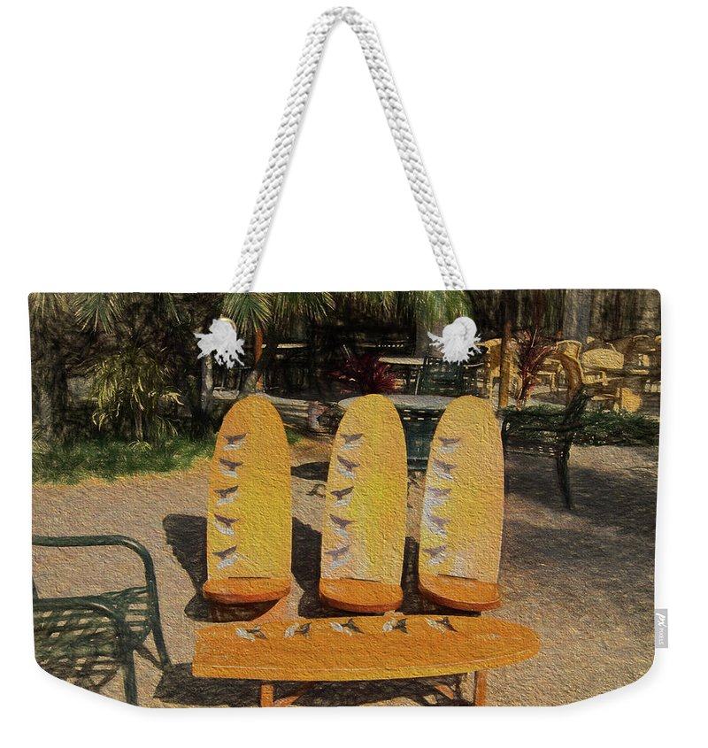 Surfboard Furniture Weekender Tote Bag featuring the photograph Beach Furniture by Melvin Busch
