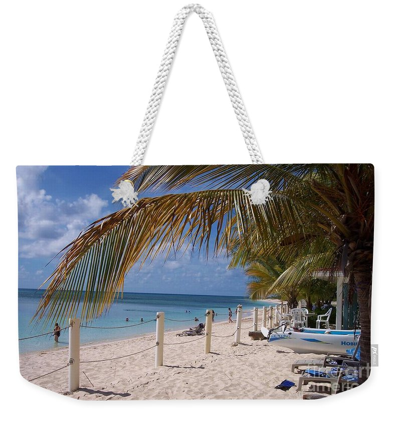 Beach Weekender Tote Bag featuring the photograph Beach Grand Turk by Debbi Granruth