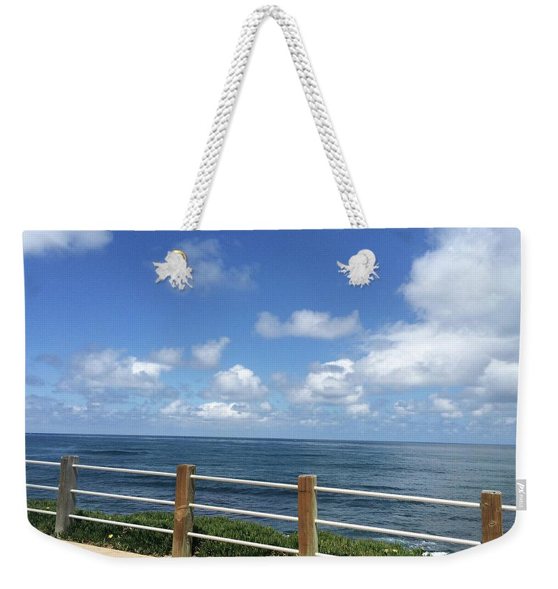 Beach Weekender Tote Bag featuring the photograph Beach Horizon by Lara Ekdahl