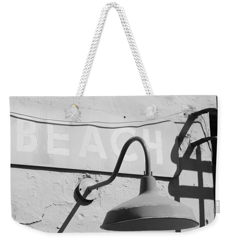Black And White Weekender Tote Bag featuring the photograph Beach Light by Rob Hans
