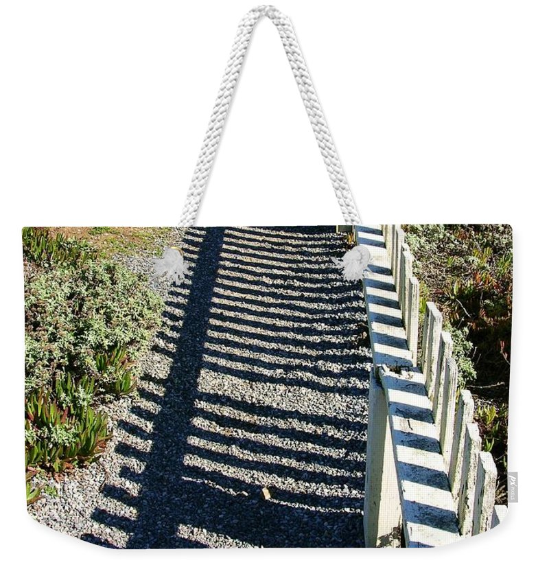 Half Moon Bay Weekender Tote Bag featuring the photograph Beach Path by Carol Groenen