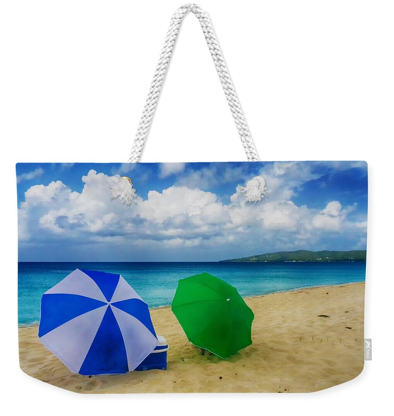 Ocean Weekender Tote Bag featuring the photograph Beach Picnic by Amanda Jones