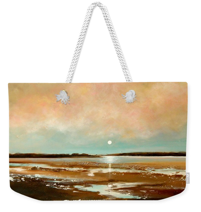 Beach Weekender Tote Bag featuring the painting Beach Reflections by Toni Grote