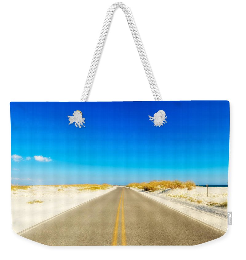 Florida Weekender Tote Bag featuring the photograph Beach Road by Raul Rodriguez